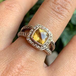 David Yurman Jewelry - David Yurman Petite Albion Citrine & Diamond Ring